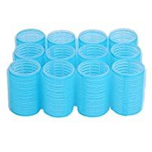 "niceEshop(TM) 12pcs X 40mm (1-1/2"") Self Grip Hair Rollers Pro Salon Hairdressing Curlers,Random Color"