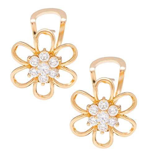Romantic Time Womens Charm Fashion Cute Simple Elegant Colorful Flowers Stud Earrings