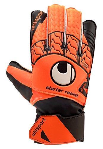 - UHLSPORT STARTER RESIST JUNIOR Goalkeeper Gloves Size 6 fluo orange/black/wh