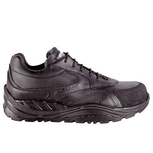 Cofra, 40-55051000-44, Scarpe di sicurezza S3 CI SRC Wheel Maxi Comfort 55051-000 calzature di pelle nera, taglia 44