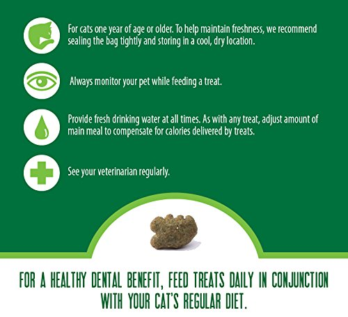 FELINE GREENIES Dental Treats For Cats Tempting Tuna Flavor 5.5 oz. With Natural Ingredients Plus Vitamins, Minerals, And Other Nutrients