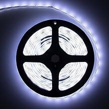 lemonbest 5M 5Meter 16.4Feet Roll Super Bright Waterproof SMD 5630 300 leds Flexible Cool White led Lighting Strip