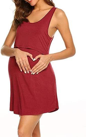 Camisón Lactancia Pijama Ropa Mujer Vestido De Maternidad