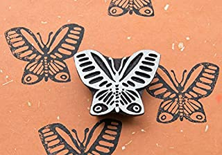Blockwallah Graceful Butterfly Wooden Block Stamp