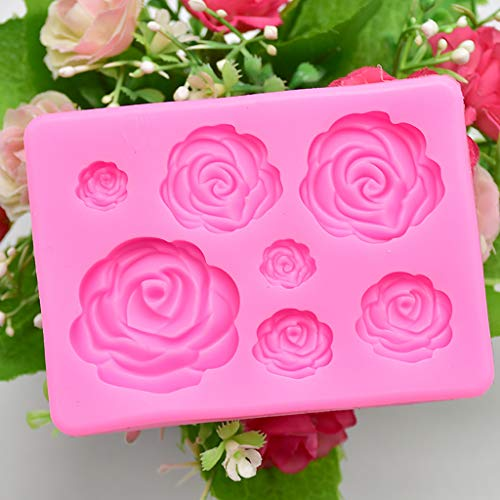♛Euone Cake Mould ♛Clearance♛, Rose Flower Silicone Mold Fondant Mold Cake Decorating Tools Chocolate Mold