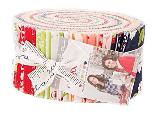 Bonnie Blue Fabrics - Bonnie & Camille The Good Life Jelly Roll 40 2.5-inch Strips Moda Fabrics 55150JR