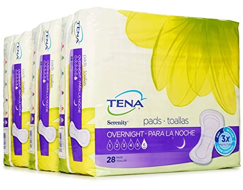Amazon.com: TENA Intimates Overnight Pads 28 Count (Pack of 3): Health & Personal Care