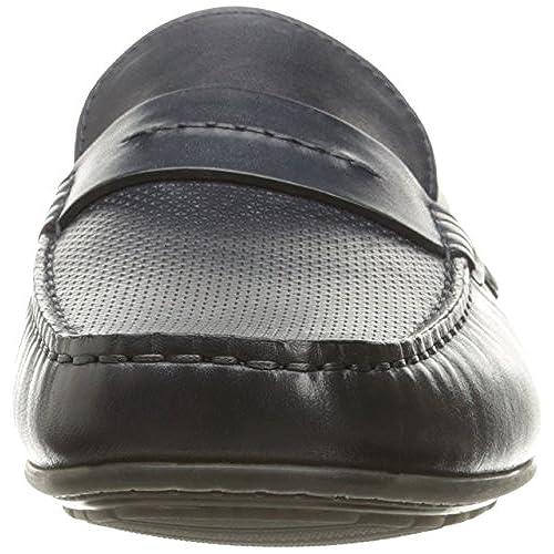 c42c1a066fe Hugo by Hugo Boss Men s Travelling Dandy Moccasin in Navy Leather Slip-On  Loafer best
