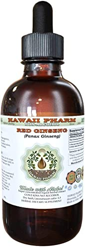 Red Ginseng Alcohol-Free Liquid Extract, Organic Red Ginseng Panax Ginseng Dried Root Glycerite Natural Herbal Supplement, Hawaii Pharm, USA 2 fl.oz
