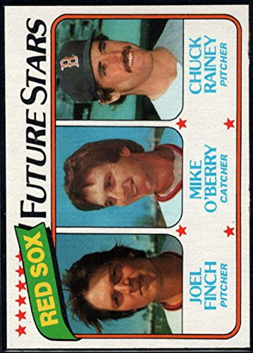 Chuck Berry Memorabilia - Baseball MLB 1980 Topps #662 Joel Finch/Mike O'Berry/Chuck Rainey Red Sox Future Stars RC Red Sox