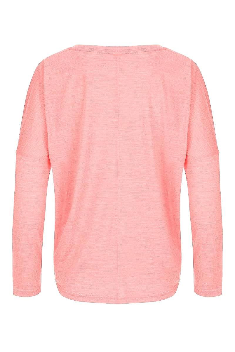 Mit Merinowolle W JONSER LS super.natural Damen Langarm Shirt