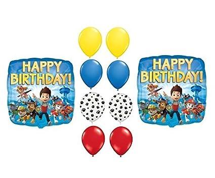 Amazon.com: Paw Patrol Feliz cumpleaños Globos Suministros ...