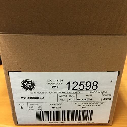 (6Pack) 12598GE mvr150/U/MED Metall Kompakt Leuchtmittel (Birne)
