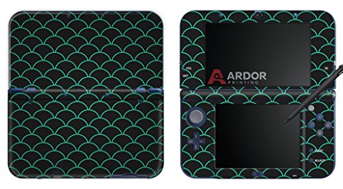 minty-fish-scales-nintendo-3ds-xl-skin-decal