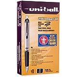 uni-ball Impact RT Retractable Bold Point Gel Pens, 12 Black Ink Pens (65870)