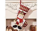 Gelaiken World Christmas Snowman Cloth Christmas Socks Candy Bag Gift Bag Christmas Tree Pendant(Multicolor)