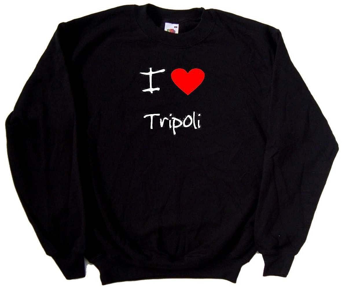 I Love Heart Tripoli Black Sweatshirt