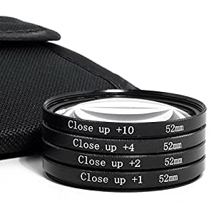52mm ARBUYSHOP Primer plano macro filtros 1+ 2+ 4+ 10+ con la bolsa de filtro para Nikon Canon 18-55 50 / 1.8 cámara de Sony DSLR filtro de la lente de 52 mm