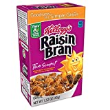 crunchy corn bran - Kellogg's Raisin Bran, Breakfast Cereal, Original, Excellent Source of Fiber, Single Serve, 1.52 oz Box(Pack of 70)