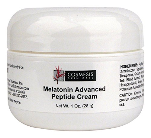 Cosmesis Life Extension Melatonin Advanced Peptide Cream, 1 Ounce