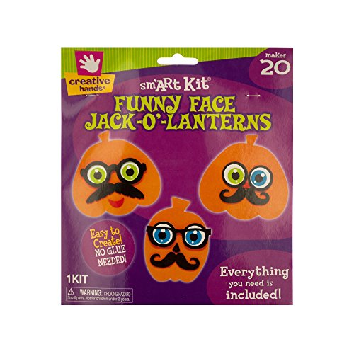 Kole Imports Foam Funny Face Jack-O'-Lanterns Craft Kit, Multicolored -