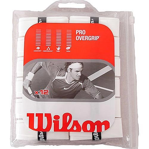 - Wilson Pro Overgrip Tennis Racquet Grip (12 Pack)