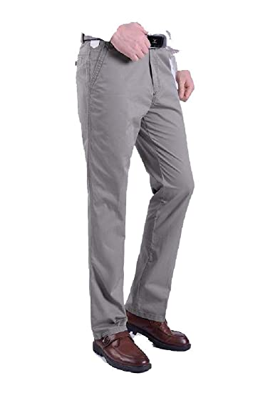 aa336180bae Andopa Men Business Casual Straight-Fit Premium Select Dress Chino Pant AS1  28