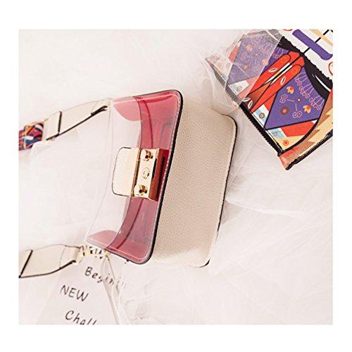 PVC Transparent Organizer Wide Handbag 85 Strap Durable Purse Clear Length Shoulder Small 135cm Women's White Purse Crossbody Bag qIHwAxqr