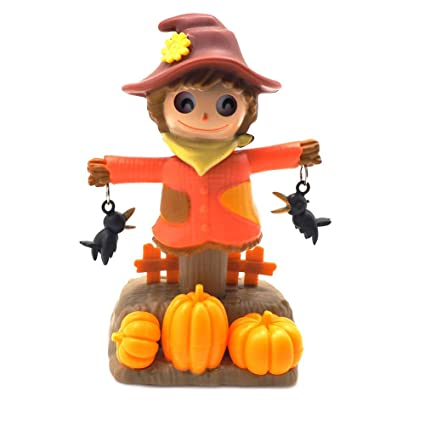 Solar Power Dancing Toy Scarecrow For Home Car Decor Gift