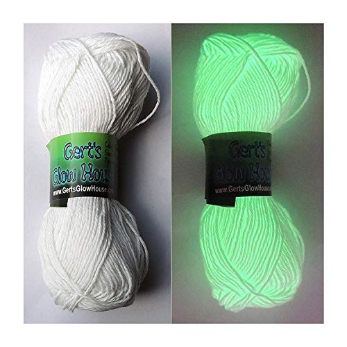 Glow in the Dark Yarn - 120 Yards per roll - Fingering Weight Gert' s Glow House