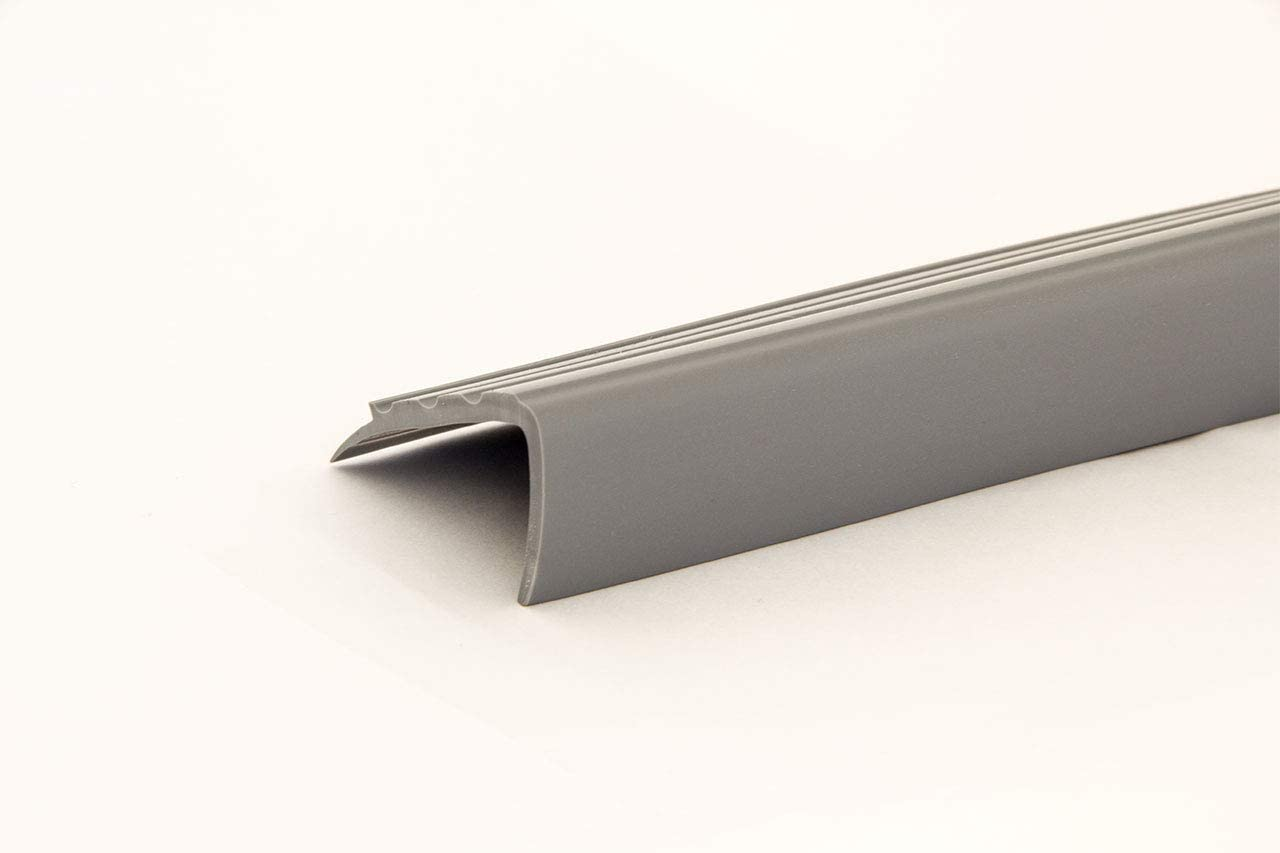 Treppenkantenprofil braun Kunststoff PVC 1,10m k/ürzbar Treppenwinkel 3