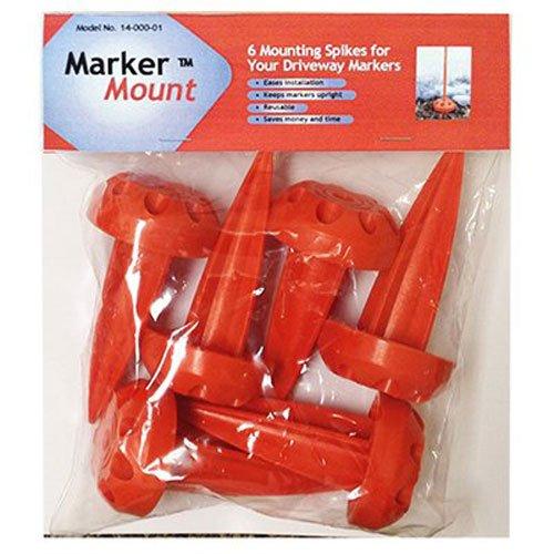 Rebound Driveway Marker 14-001-06 Marker Mount Driveway Stake, 6-Pack