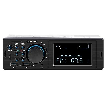Ylinova - Reproductor de MP3 con Bluetooth, Tarjeta TF, Disco U, Consola Central de Radio FM, Altavoz de Coche, Llamada Manos Libres, Cargador de ...