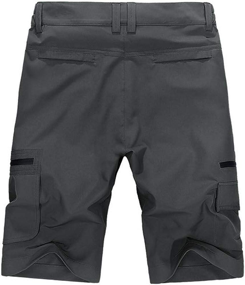 OCHENTA Mens Expandable Waist Lightweight Quick Dry Cargo Shorts