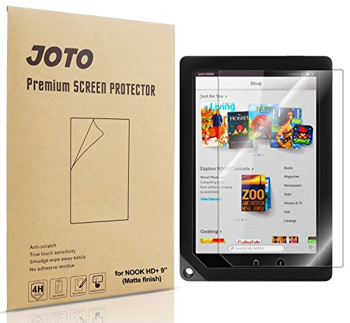 JOTO Premium Screen Protector Film for Barnes and Noble Nook HD+ 9 inch Tablet, Anti Glare, Anti Fingerprint (Matte Finish) with Lifetime Replacement Warranty (3 Pack)
