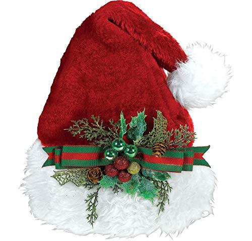 Mistle Toe Hat (amscan Deluxe Embellished Santa Hat | Christmas)
