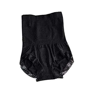 59d65cbd32ed Abdominal high Waist Ladies Underwear Magnetic Therapy Warm Pants  Postpartum Hips Body Shaping Seamless lace Belly Pants Beauty Underwear,  Black, ...