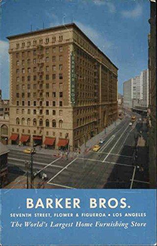 Barker Bros. Home Furnishing Store Los Angeles, California Original Vintage Postcard