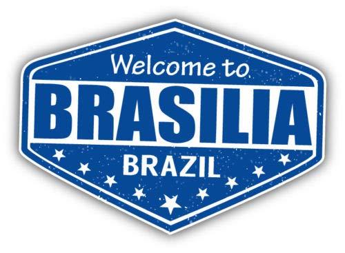 Craftmag Brasilia City Brazil Grunge Travel Stamp Vinyl Sticker Decal Outside Inside Using for Laptops Water Bottles Cars Trucks Bumpers Walls, 5
