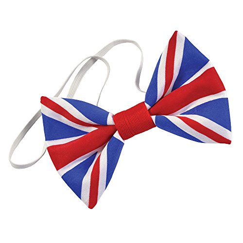 Bristol Novelty BA2890 Union Jack Bow Tie Cloth, One Size ()