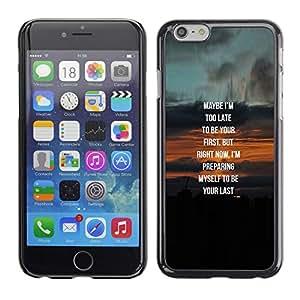 Love Sunset Verdadera Novia Pareja Miel- Metal de aluminio y de plástico duro Caja del teléfono - Negro - iPhone 6