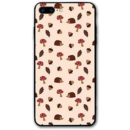 sensitives iPhone 8 Plus Case Mushrooms and Hedgehogs Slim Protective Cover Corner Cushion Design