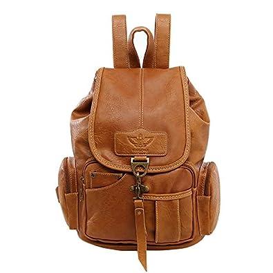 1bbc6ba829cb1 SODIAL Frauen Rucksack Vintage Rucksaecke fuer Teenager Maedchen Mode  Travel Pack Taschen Hohe Qualitaet PU Leder