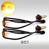 Error Free No Flicker 50W High Power Chip LED Yellow Turn Signal Parking Light Bulbs (3157)