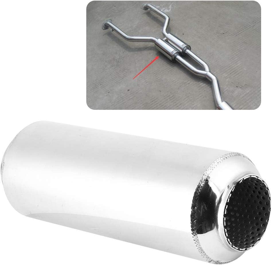 Yctze Tuyau interm/édiaire d/échappement de 63mm//2.5in remplacement de silencieux de tornade de Tube de silencieux de r/églage dissipatif universel pour voiture