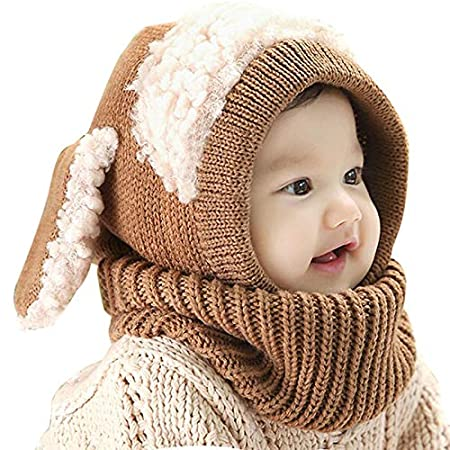 Amazon.com   Yichener 28 Styles Kids Winter Hats Girls Boys Children  Crochet Warm Caps Scarf Set Baby Bonnet Enfant Cartton Cute Hat for Girl Boy    Sports   ... 4a033a303224
