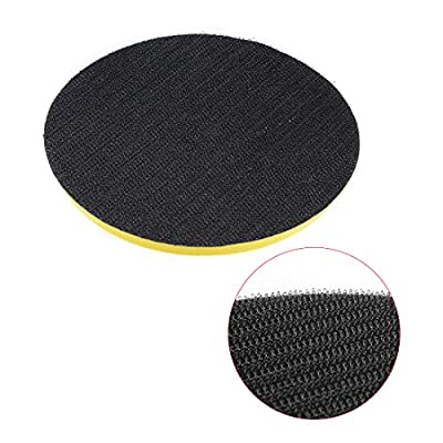 uxcell 5 Inch Hook and Loop Backing Backer Pads with M10 Female Thread 2 Pcs for Diamond Polishing Pads: Home Improvement