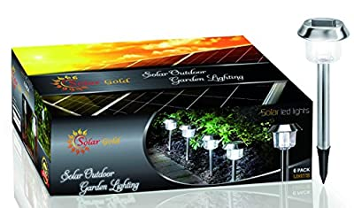 Solar Outdoor LED Garden Lights 6 Pack Super Quality Brighter Light, Sun Powered For Pathway, Driveway, Walkway Yard | Free Bonus: The Ultimate Guide for Gardening.