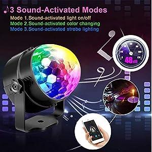 51nmswsqpPL. SS300  - LED-Discokugel-Nakalus-Party-Lampe-DiscoLicht-Musikgesteuert-Mit-Remote-Steuerung-Bhnenbeleuchtung-7-Farbe-RGB-Led-Effekt-Lampe