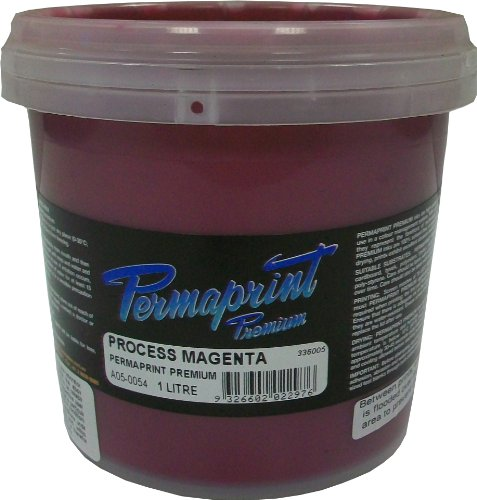 Permaprint 1 Litre Fabric Printing Ink - Process Magenta by OfficeMarket